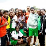 I-Qru's Alexis with her former schoolmates from Huruma Gee