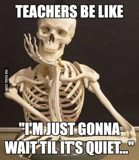 wait till its quiet